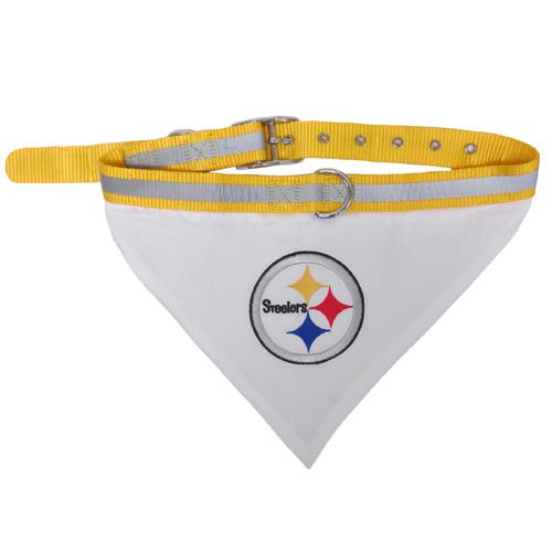 Pittsburgh Steelers NFL Dog Collar and Bandana