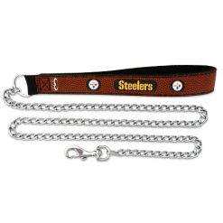 Pittsburgh Steelers leather dog leash