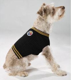 Pittsburgh Steelers turtleneck NFL dog sweater on pet