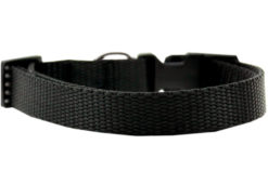 Plain Black Nylon Dog Collar