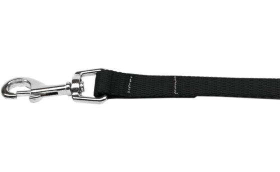 Plain Black Nylon Dog Leash
