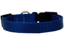 Plain Blue Nylon Dog Collar