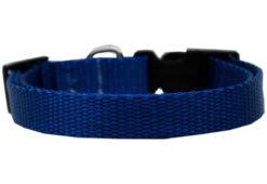 Plain Blue Nylon Dog Collar