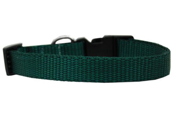 Plain Green Nylon Dog Collar