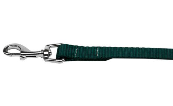 Plain Green Nylon Dog Leash