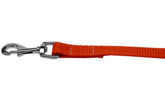 Plain Orange Nylon Dog Leash