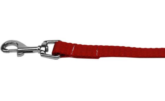 Plain Red Nylon Dog Leash
