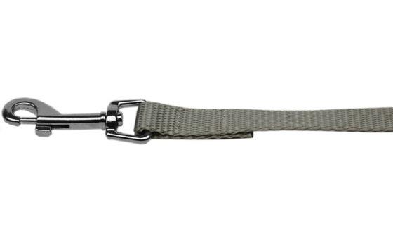 Plain Silver Nylon Dog Leash