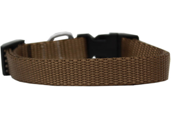 Plain Tan Nylon Dog Collar