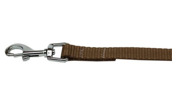 Plain Tan Nylon Dog Leash