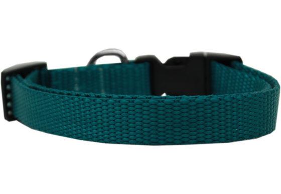 Plain Teal Nylon Dog Collar