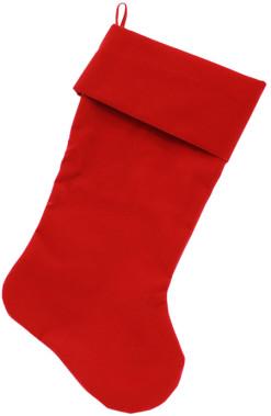 Plain Velvet Red Dog Stocking