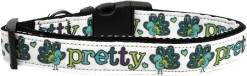 Pretty as a Peacock Adjustable dog collar