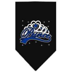 Prince and Crown dog bandana black