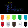 Prince and Crown rhinestone dog bandana