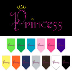 Princess and Crown rhinestone dog bandana