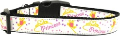 Princess dog collar with Stars, crowns, princess wand and butterflies