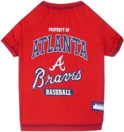 Property of Atlanta Braves MLB dog tee shirt
