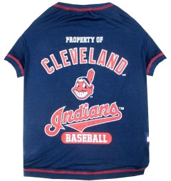 Property of Cleveland Indians baseball dog shirt
