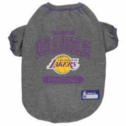 Property of Los Angeles Lakers Basketball NBA Dog Shirt front