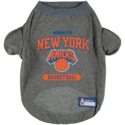 Property of New York Knicks Basketball Dog Shirt front