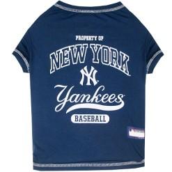 Property of New York Yankees Baseball MLB dog tee shirt