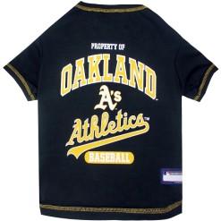 Property of Oakland Athletics MLB dog tee shirt