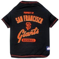 Property of San Francisco Giants Baseball MLB dog tee shirt