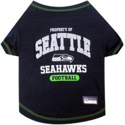 Property of Seattle Seahawks Football Dog TShirt