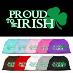 Proud to be Irish Screenprint t-shirt sleeveless