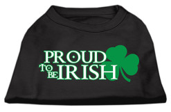 Proud to be Irish Screenprint t-shirt sleeveless black