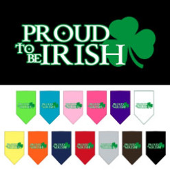 Proud to be Irish Shamrock dog bandana