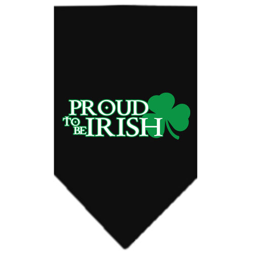 Proud to be Irish Shamrock dog bandana black