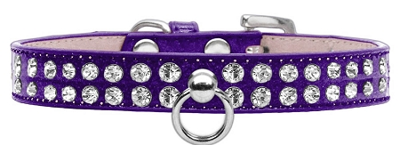 Purple Dog Collar with Czech Crystals