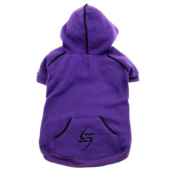 Purple Sport Dog Hoodie back