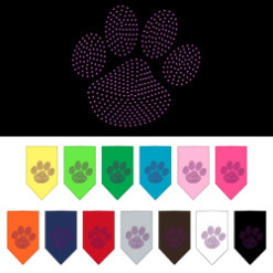 Purple dog paw rhinestone bandana