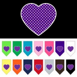 Purple polka dog bandana