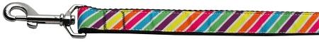 Rainbow Diagonal bright stripes dog leash