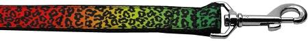 Rainbow Leopard Print dog leash animal print
