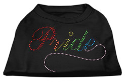 Rainbow pride rhinestones dog t-shirt baby black