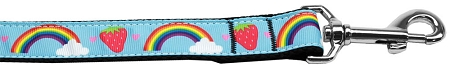 Rainbows and Strawberries Dog Leash baby blue