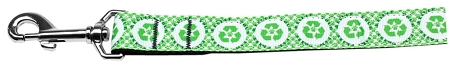 Recycling symbol and dog paw environment friendly dog leash