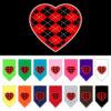Red Argyle heart dog bandana