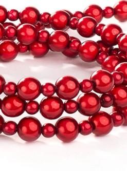 Red Fabuleash Lumi Bead Dog Leash