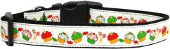 Red, Green & White Cupcake Nylon Adjustable Dog Collar