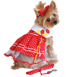 Red Polka Dot Party Dog Balloon Dress