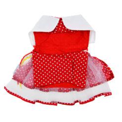 Red Polka Dot Party Dog Balloon Dress back