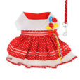Red Polka Dot Party Dog Balloon Dress front