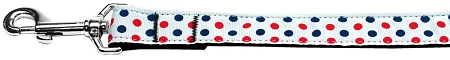 Red White and Blue Polka Dot Dog Leash Patriotic