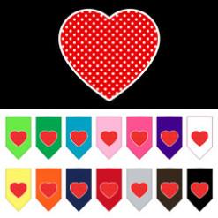 Red heart polka dot dog bandana